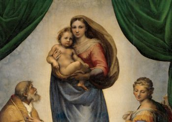 La Madonna Sistina di Raffaello, particolare