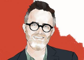 Ritratto di Rod Dreher realizzato da Emanuela Giacca