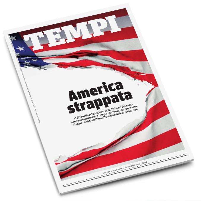 La copertina del mensile Tempi di ottobre 2020