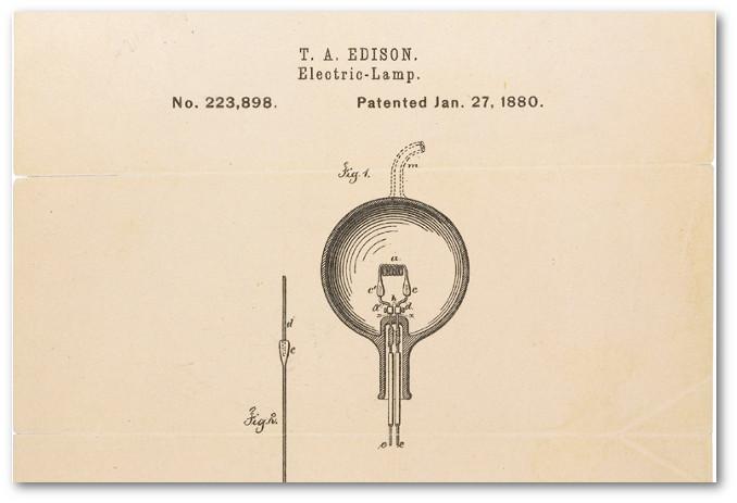 Brevetto della lampadina elettrica di Edison