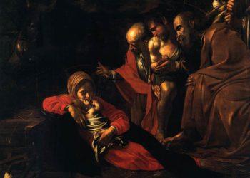 Particolare della Adorazione dei Magi di Caravaggio