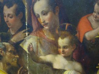 Carlo Portelli, Sacra Famiglia con san Giovannino e due santi adolescenti