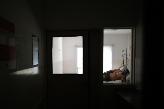 Un malato di Covid-19 ricoverato in ospedale