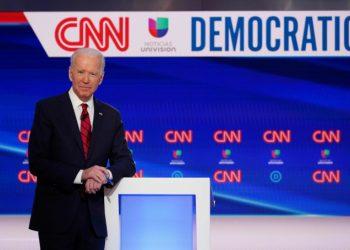 Joe Biden in uno studio della Cnn