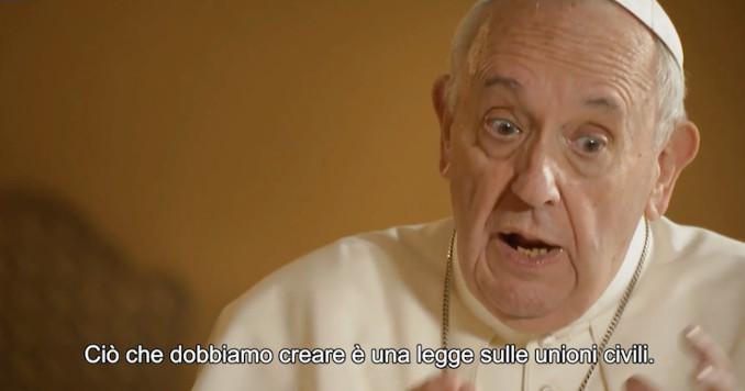 Le dichiarazioni del Papa sulle unioni civili gay nel documentario 'Francesco'
