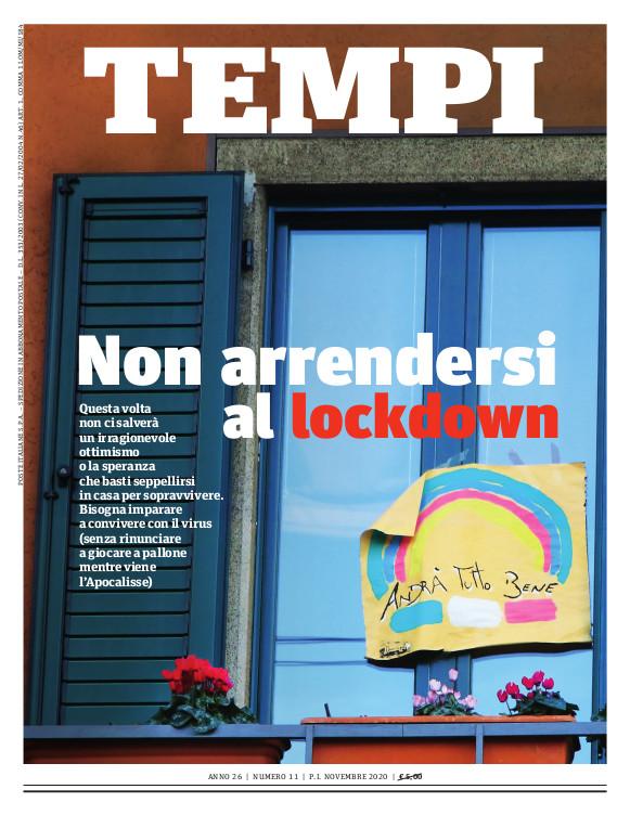 La copertina del numero di novembre 2020 di Tempi