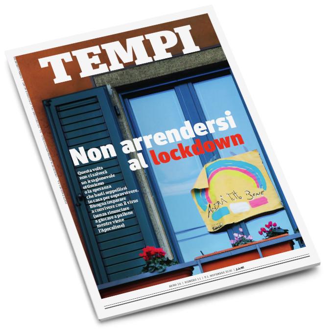 La copertina del mensile Tempi di novembre 2020