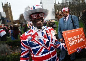 Festa a Londra per il Brexit Day, 31 gennaio 2020