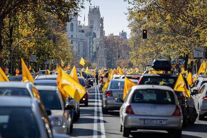 Protesta a Madrid contro la riforma dell'educazione (ley Celaá)