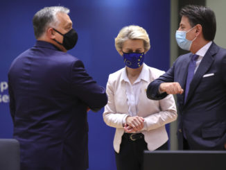 Viktor Orban, Ursula von der Leyen, Giuseppe Conte