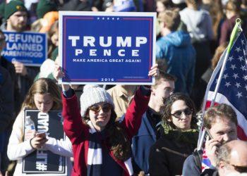 Una sostenitrice di Trump alla Marcia per la vita