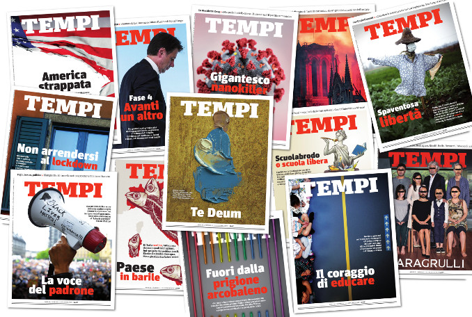 Copertine del mensile Tempi