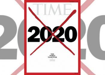 """La copertina del Time dedicata al 2020 """"anno peggiore di sempre"""""""