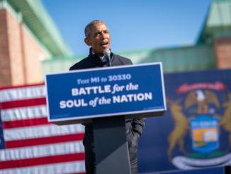 Barack Obama durante un comizio per Joe Biden