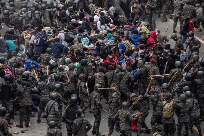 carovana migranti guatemala