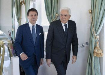 Giuseppe Conte con Sergio Mattarella
