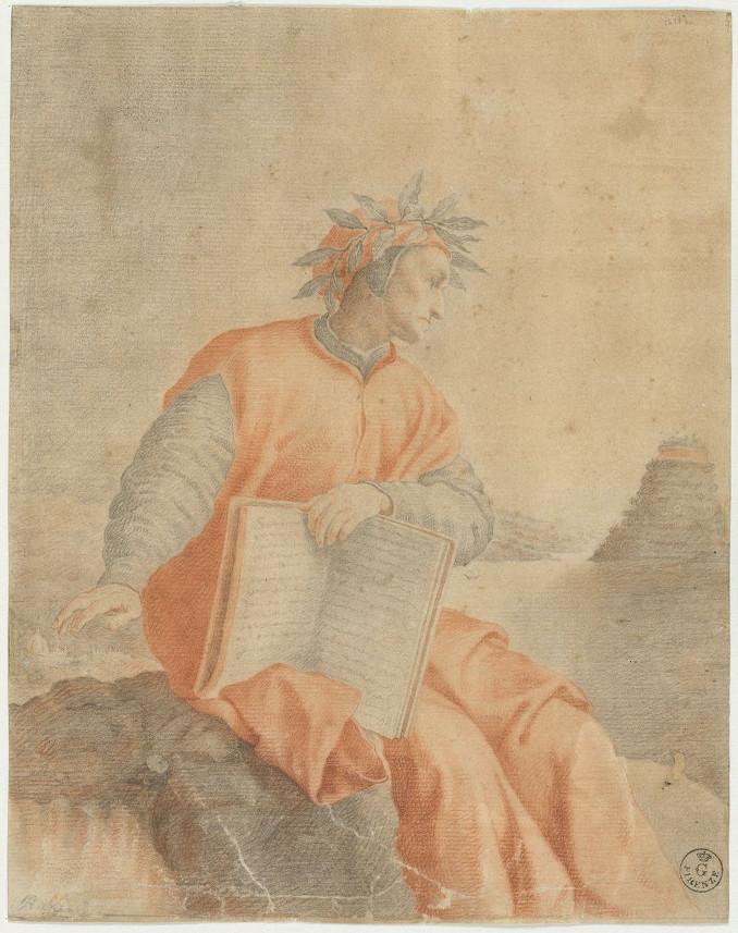 Ritratto di Dante Alighieri, copia da Federico Zuccari