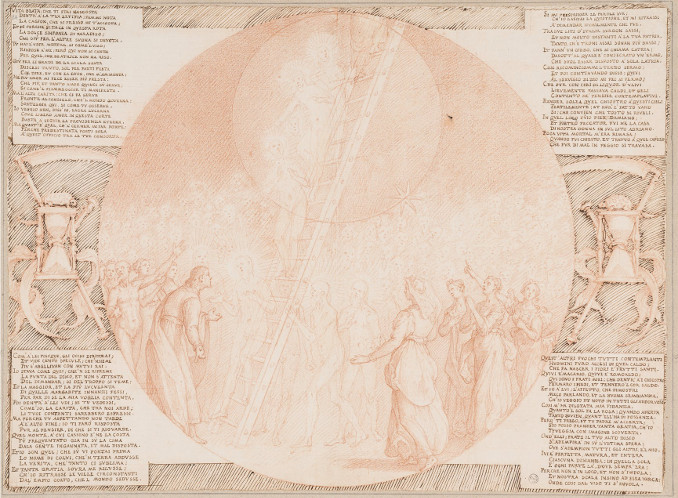 Illustrazione di Federico Zuccari per il Canto XXI del Paradiso di Dante (Settimo Cielo)