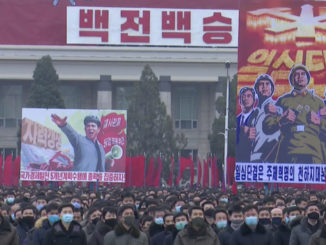 kctv nord corea slogan parata