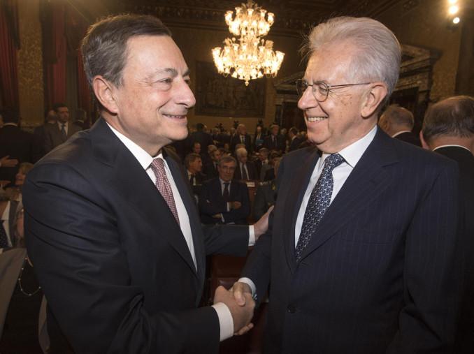 Mario Draghi e Mario Monti