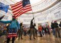Protesta dei sostenitori di Trump a Capitol Hill, Washington