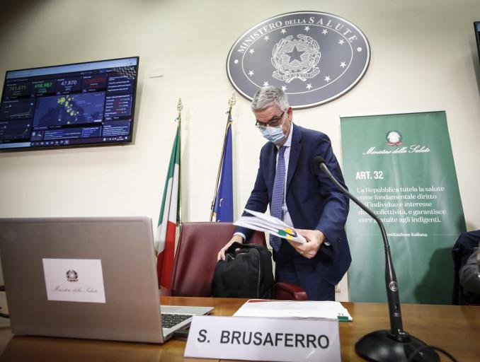 Conferenza stampa di Silvio Brusaferro sui numeri della pandemia di coronavirus