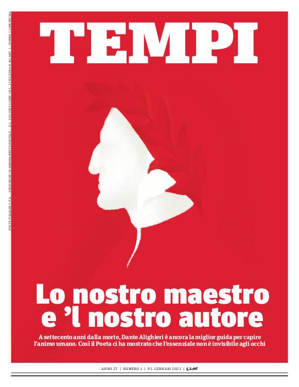 La copertina del numero di gennaio 2021 di Tempi
