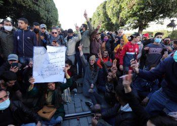 tunisia proteste giovani