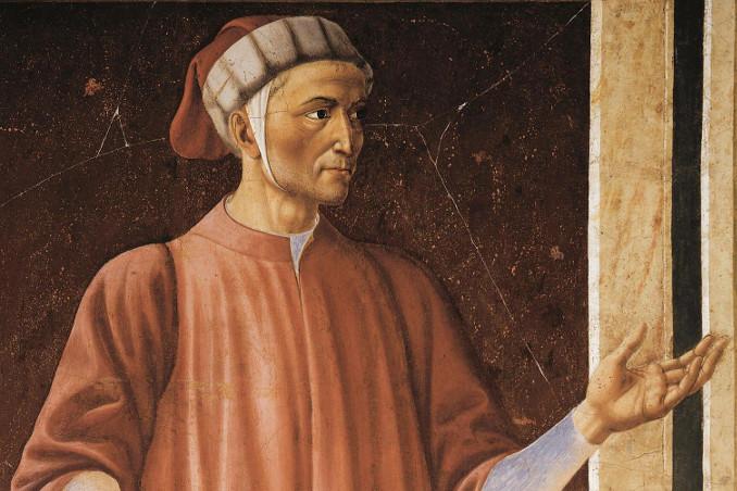 Dante Alighieri, affresco di Andrea del Castagno conservato nella Galleria degli Uffizi, Firenze