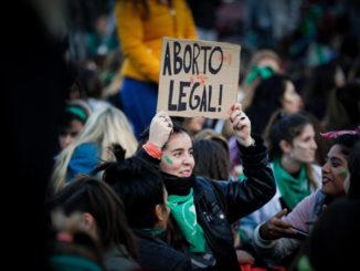 Manifestazione a favore della legalizzazione dell'aborto in Argentina