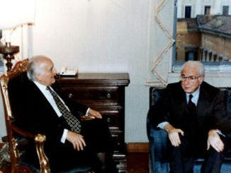 Oscar Luigi Scalfaro e Francesco Cossiga