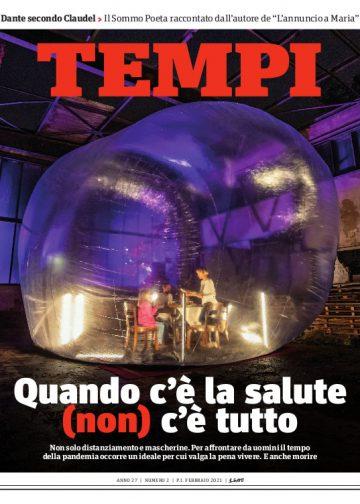 La copertina del numero di febbraio 2021 di Tempi
