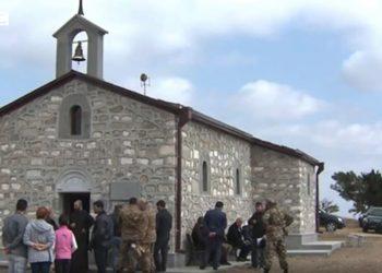La chiesa armena distrutta dagli armeni a Jabrayil