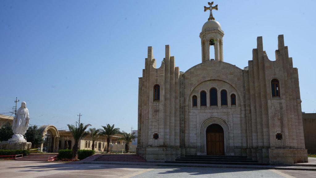 Fachada de la iglesia parroquial de San Giorgio en Bartella, Irak
