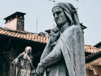 dante alighieri, statua a Verona