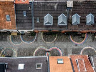 Foto della città vecchia di Kempen, Germania, durante il locdown anti Covid