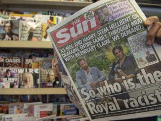 Prima pagina del Sun con intervista di Oprah a Harry e Meghan