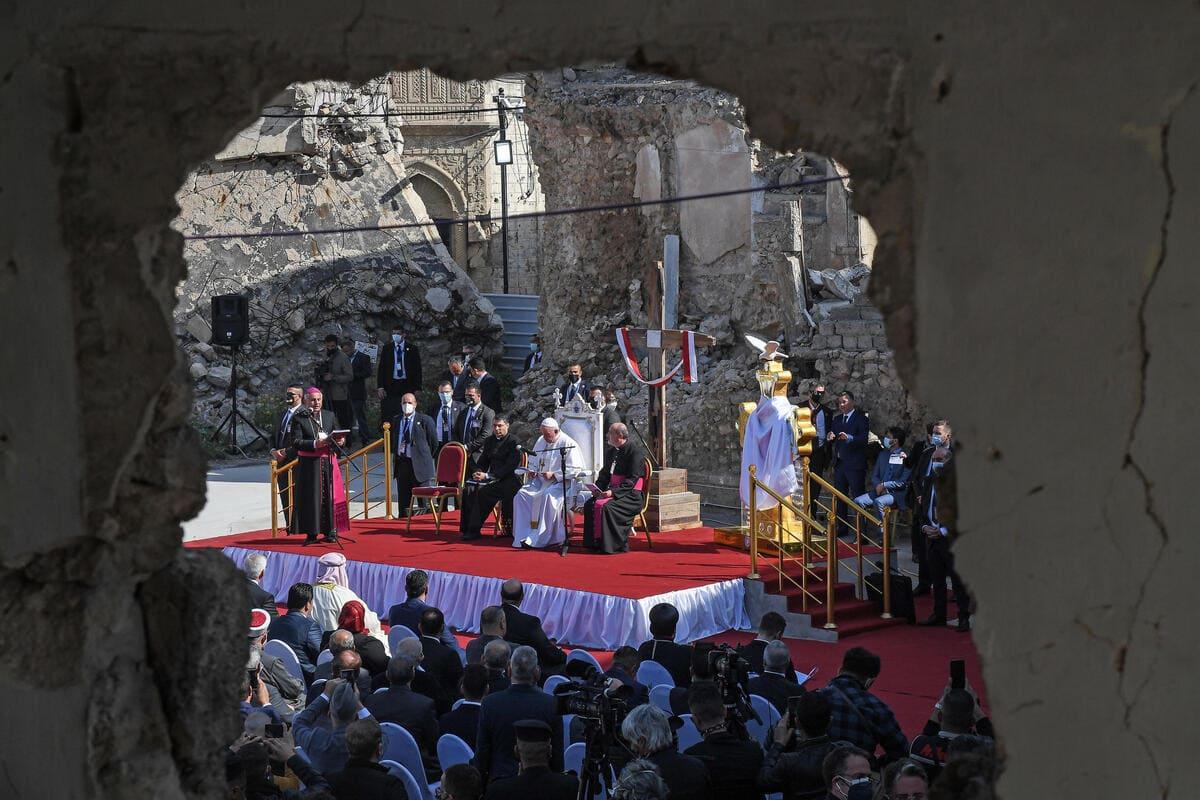 papa Francesco, messa a Mosul in Iraq