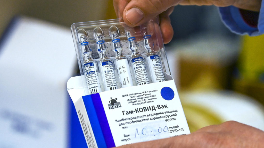 Fiale di vaccino russo anti Covid Sputnik V