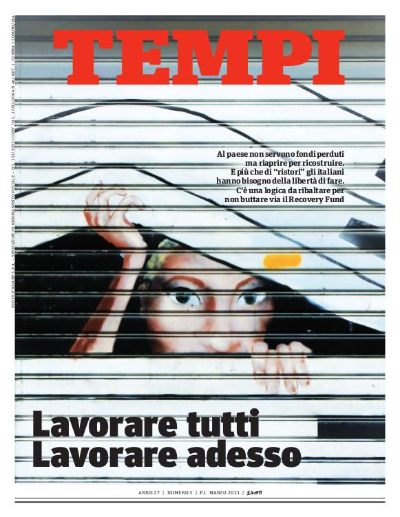 La copertina del numero di marzo 2021 di Tempi