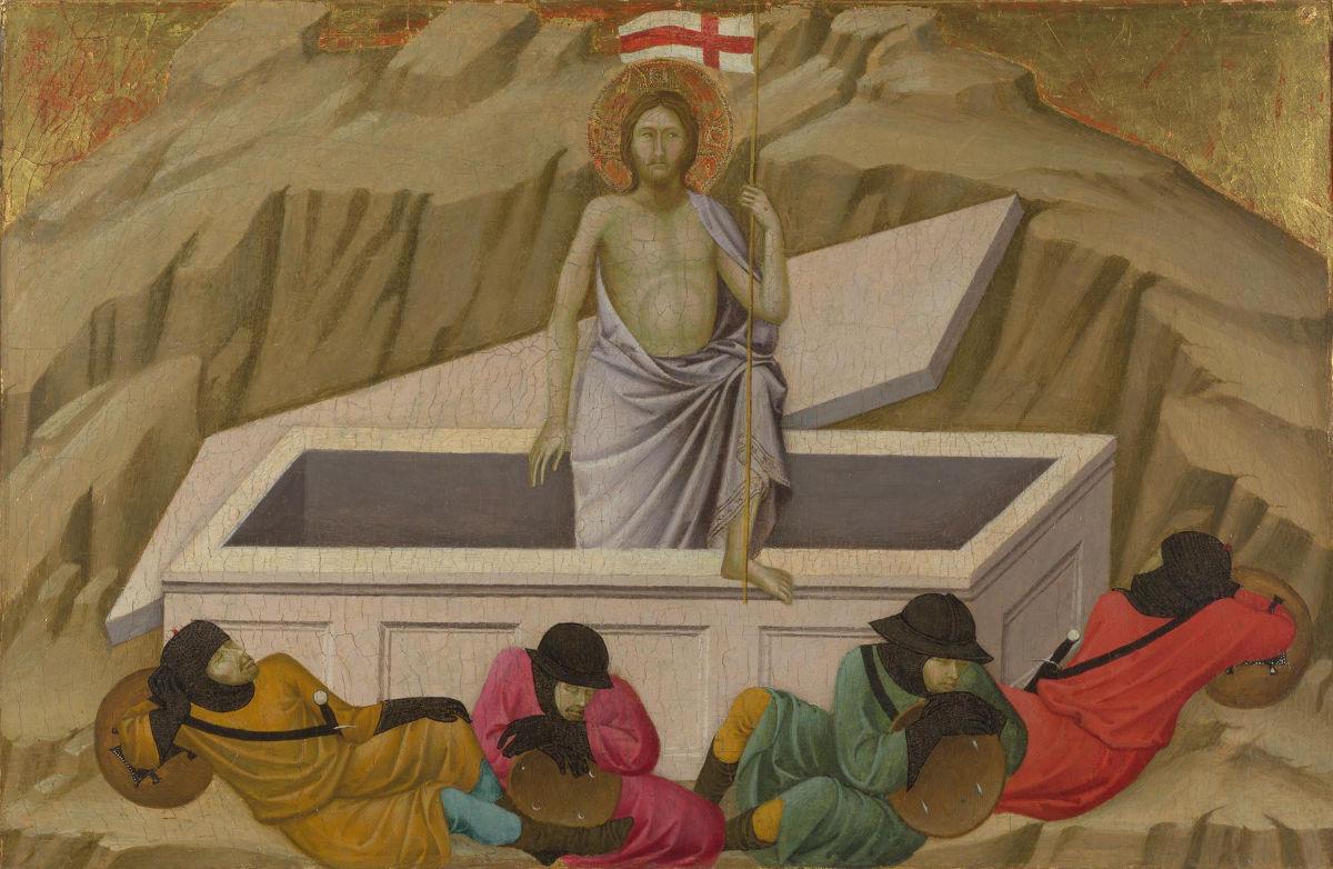 Resurrezione di Cristo, dipinto di Ugolino di Nerio