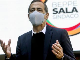 Beppe Sala alla presentazione della Lista Sala in vista delle elezioni 2021 a Milano