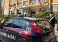 Auto dei carabinieri davanti all'assessorato alla Saluta della Sicilia