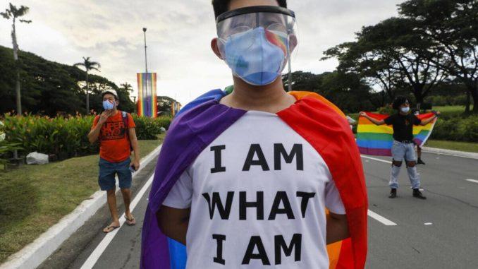 Manifestazione a favore dei diritti gay e gender nelle Filippine