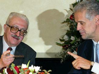 Roberto Formigoni con Tarek Aziz