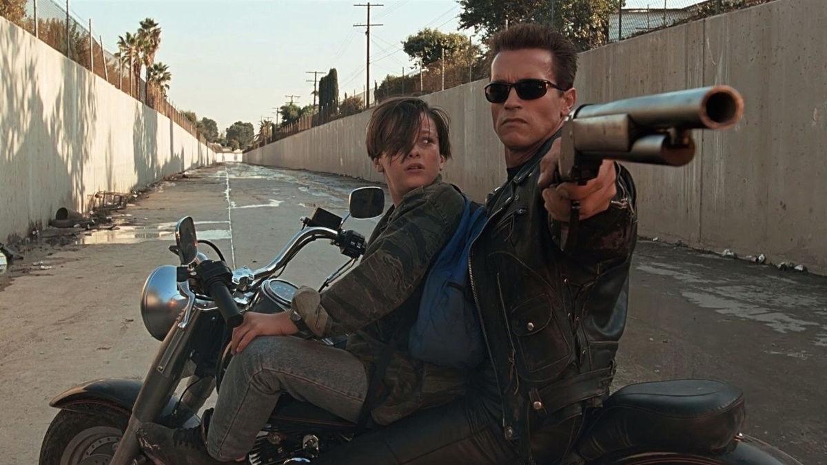 Una scena del film Terminator 2