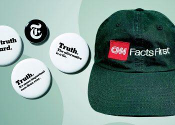 Spillette Truth del New York Times e berretto facts della Cnn