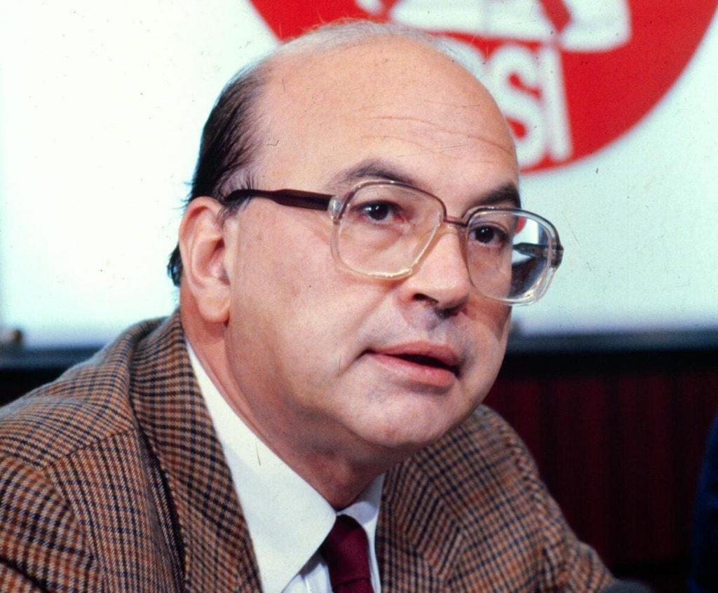 Bettino Craxi, leader del Partito socialista italiano