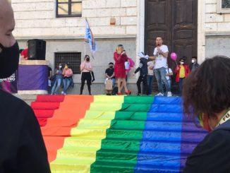 La manifestazione a sostegno del Ddl Zan a Cagliari, 15 maggio 2021