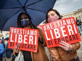 Ddl Zan, manifestazione pro vita a Milano
